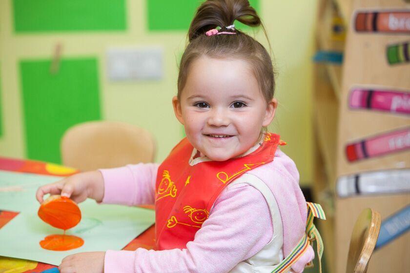 Painting at Weston Nursery & Pre-school