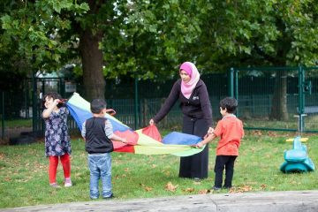 Outdoor play at Newtown Pre-school