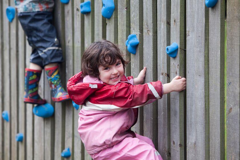 Wall climbing at Whale Island Nursery