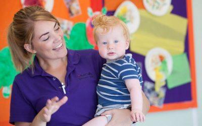 Staff and child at Newport Nursery