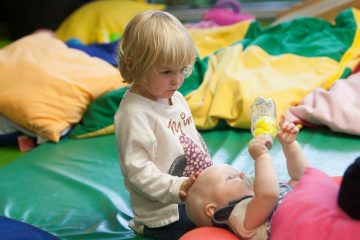 Playing at Portsea Nursery