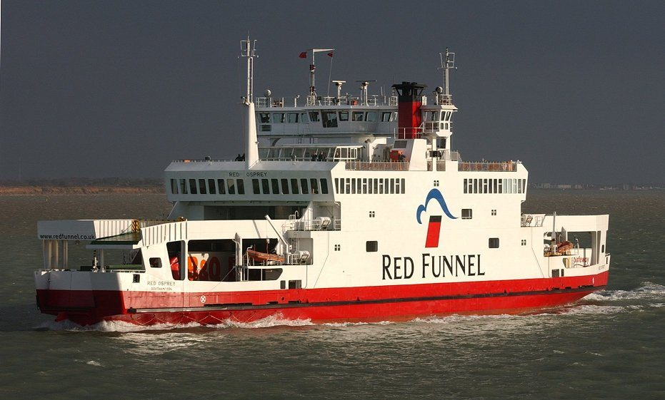 One of the ferries that could take you to our Isle of Wight residential visits.