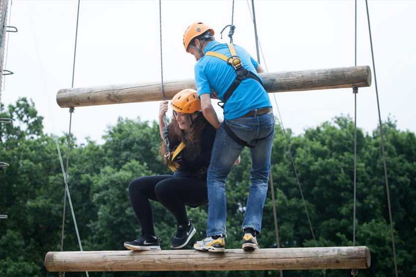 Jacob's ladder high-ropes at one of our day visits.