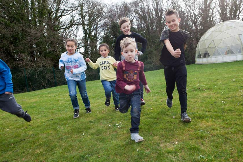 Children running at one of the Southampton Daycamps.