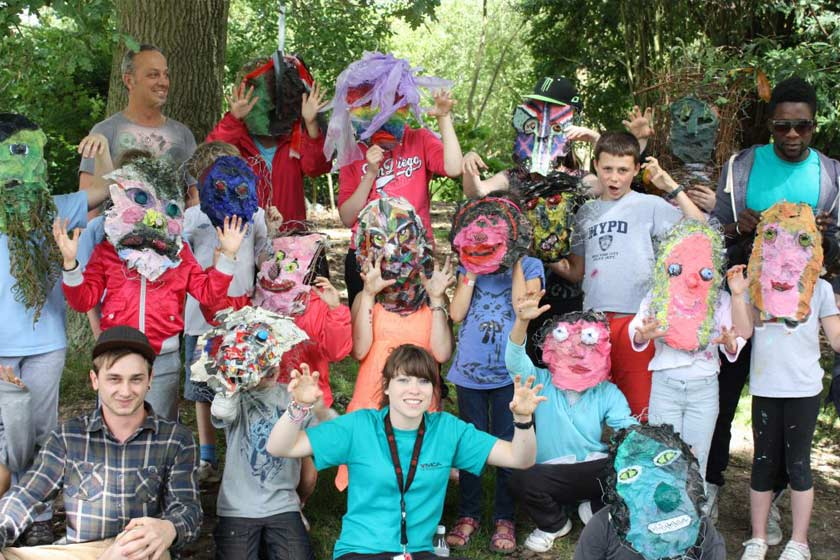 Staff and children at Turn Nature into Art