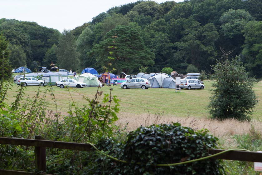 Campsite - cars and tents