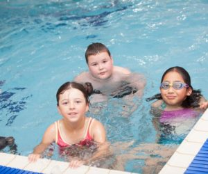 Swimming at one of the Portsmouth daycamps.