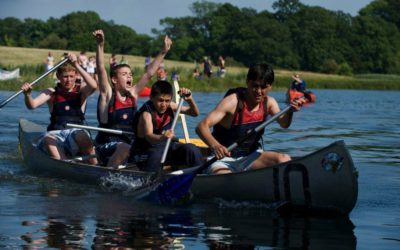 Canoeing during a Fairthorne Manor residential visit.