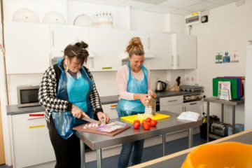 Cooking in supported housing