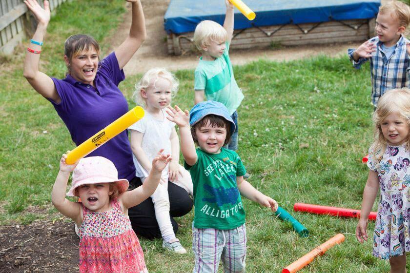 Outdoor play at Newport Nursery