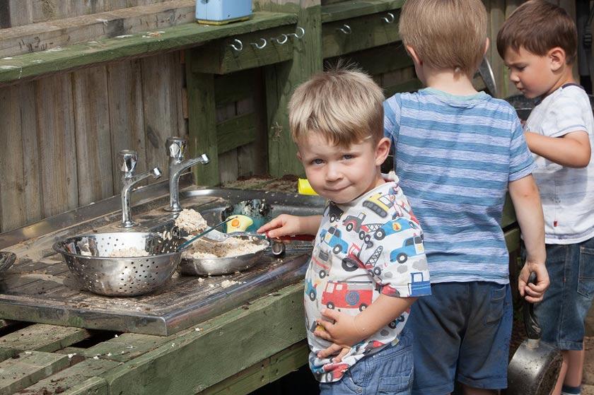 newport nursery mud kitchen