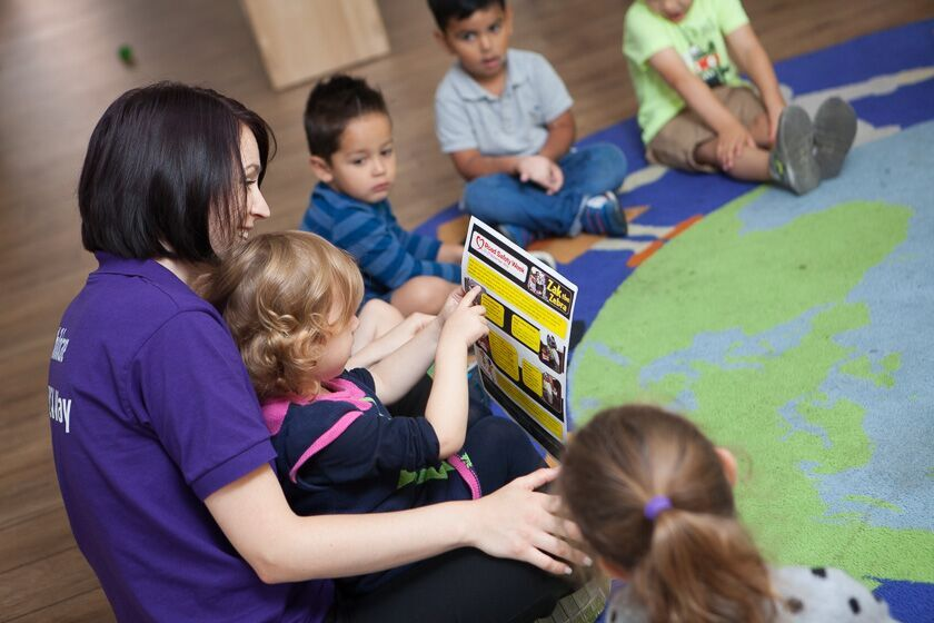 Child reading at Eastleigh Pre-school
