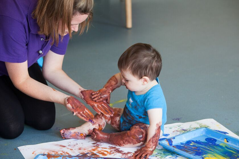 Messy play at Newport Nursery