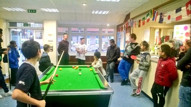 Pool table at Newtown Youth & Community Centre