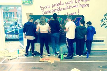 Children painting at Newtown Youth & Community Centre
