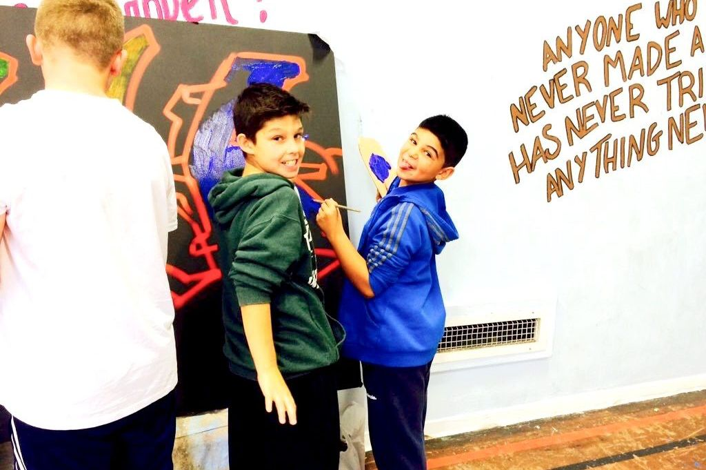 Painting as part of our Newtown youth work.